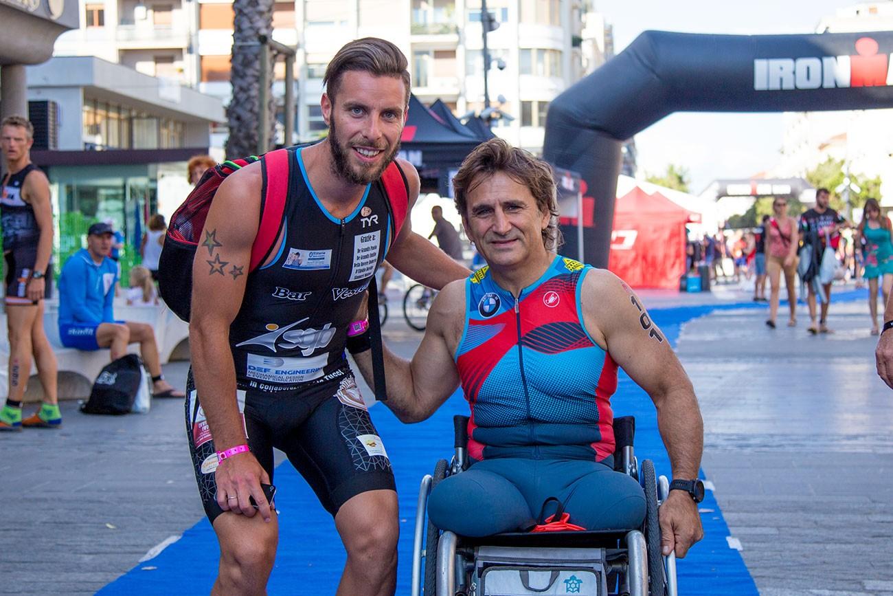 Alex Zanardi e Lorenzo D'Andrea Ironman Pescara ISAV