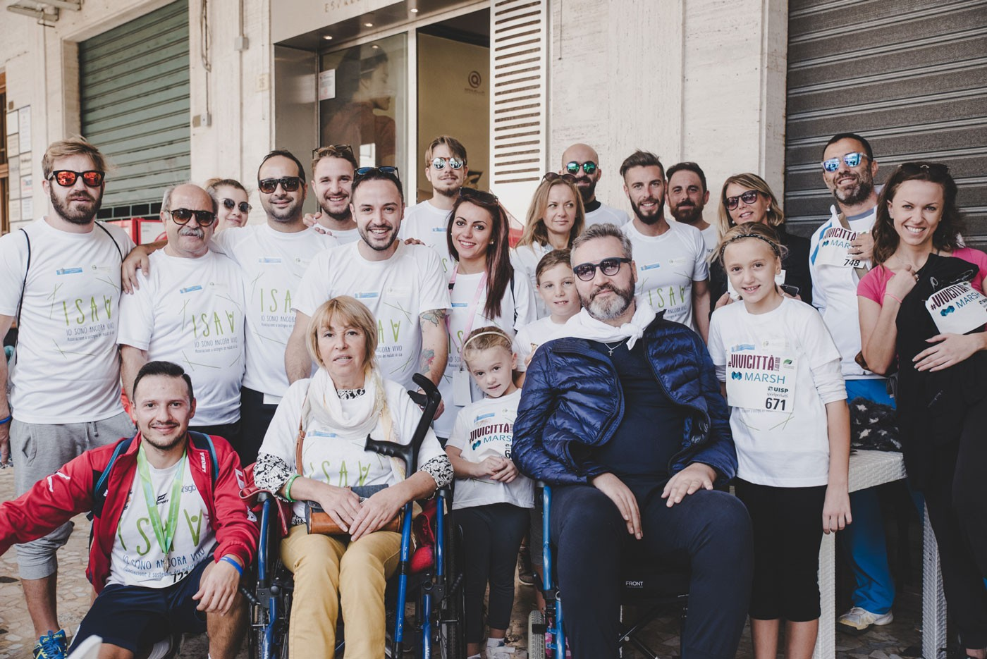 Due malati di SLA insieme ai volontari ISAV Onlus Abruzzo
